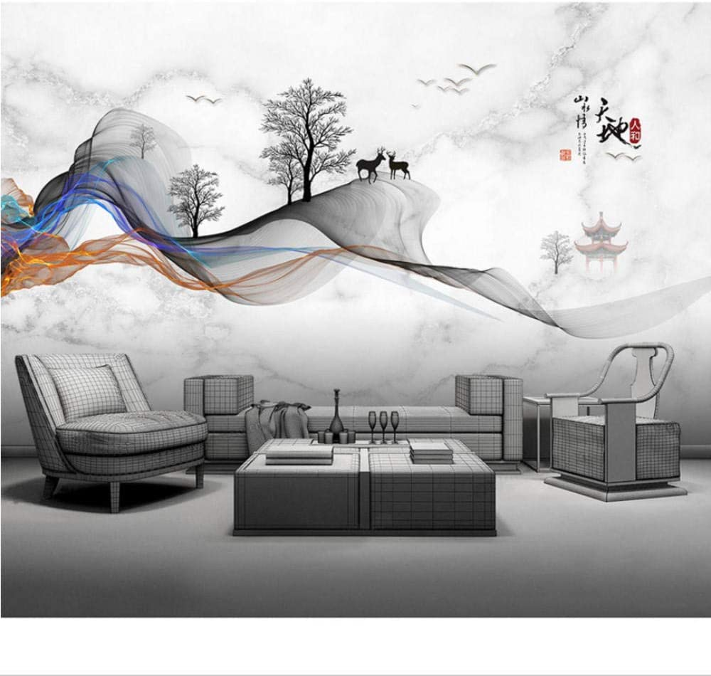 Rapid rise Custom Picture Wallpaper Murals Abstract W Landscape Max 67% OFF Ink Chinese