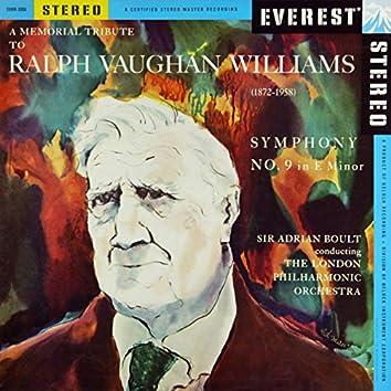 A Memorial Tribute to Ralph Vaughan Williams: Symphony No. 9