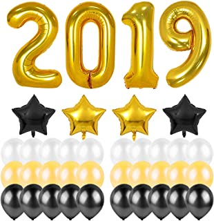 2019 Balloons 38Pcs 40inch Gold Color Foil Confetti Balloons-Birthday Graduation New Year Eve Holiday Party Celebration Decorationst Supplies
