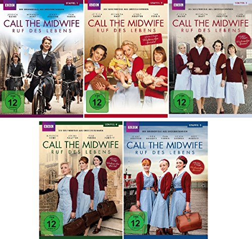 Call the Midwife - Ruf des Lebens 1-5 im Set - Deutsche Originalware [14 DVDs]