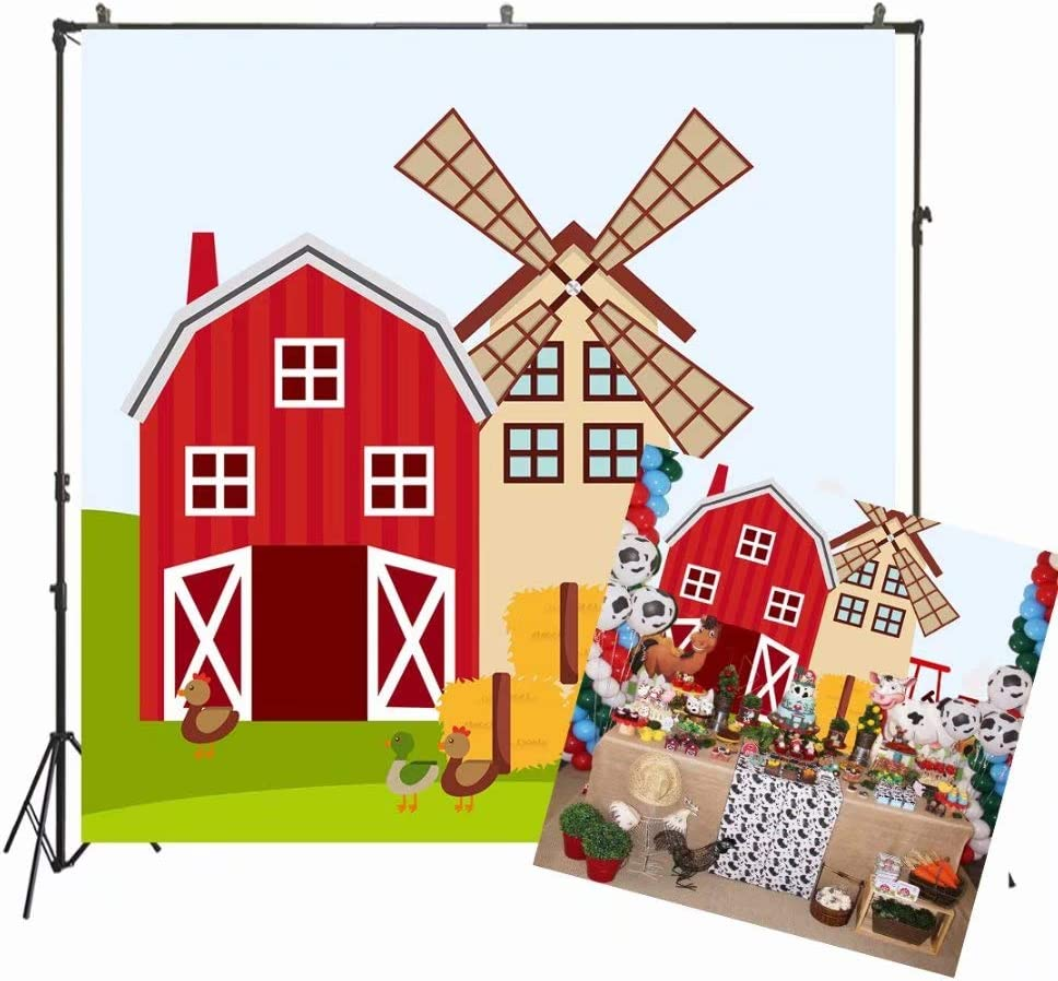 5x5ft Birthday New Orleans Mall Party Backdrop Red Large special price !! Children Cartoon Farm