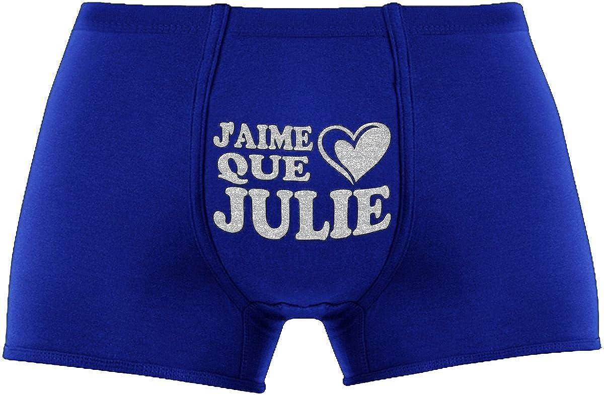 Article de nouveaut/é. Jaime que Julie Herr Plavkin  Les Boxers Cadeau Anniversaire Unique et dr/ôle