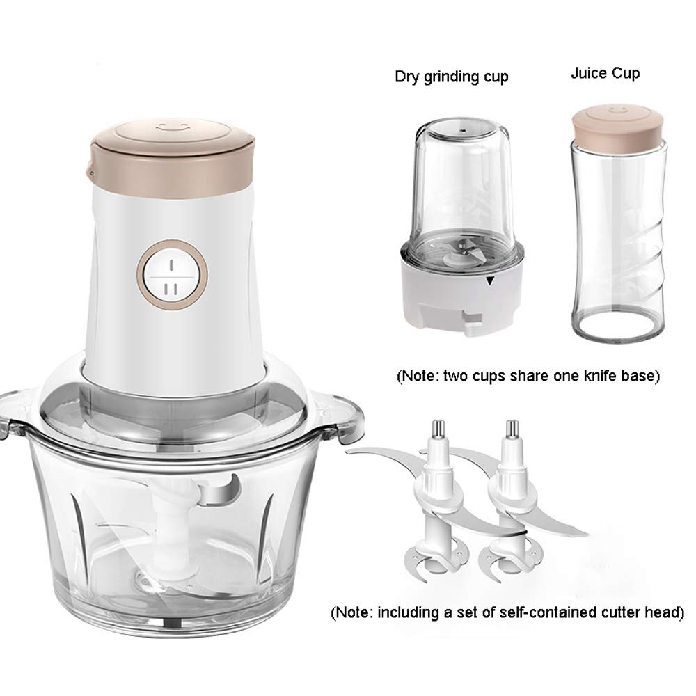 Xiao huang li Picadora de cebolla, picadora de carne, picador de verduras, picadora de alimentos, jengibre, ajo, grinder, cocina pequeña batidora de cocina máquina Three Cups para una máquina: Amazon.es