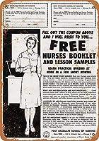 無料の看護師 金属板ブリキ看板警告サイン注意サイン表示パネル情報サイン金属安全サイン
