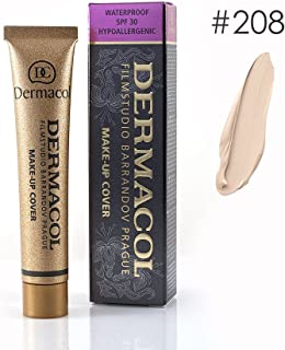 Dermacol High Cover Make-up Foundation Waterproof Hypoallergenic Foundation Authentic - #208