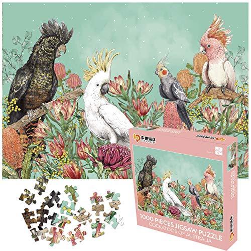 AICHUANGBAO- Puzzles für Erwachsene Kinder, Puzzle 1000 Teile, Impossible Puzzle, Dekompression der Erwachsenen, Kein Konfetti, Dicke 2mm, 70 * 50cm (Papagei)
