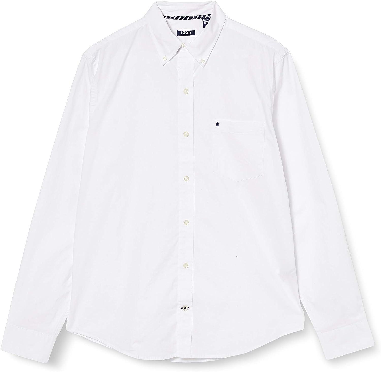 Izod Solid Poplin BD Shirt Camisa para Hombre