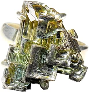 Bismuth Ring High Vibration Spiritual Healing Crystal Energy Size 7 BMR003