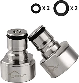 FERRODAY Ball Lock Keg Coupler Adapter - Sankey to Ball Lock Quick Disconnect Conversion Kit Fits to A D S G Type Keg Coupler FPT 5/8 Thread Stainless Steel Gas & Liquid Post for Homebew