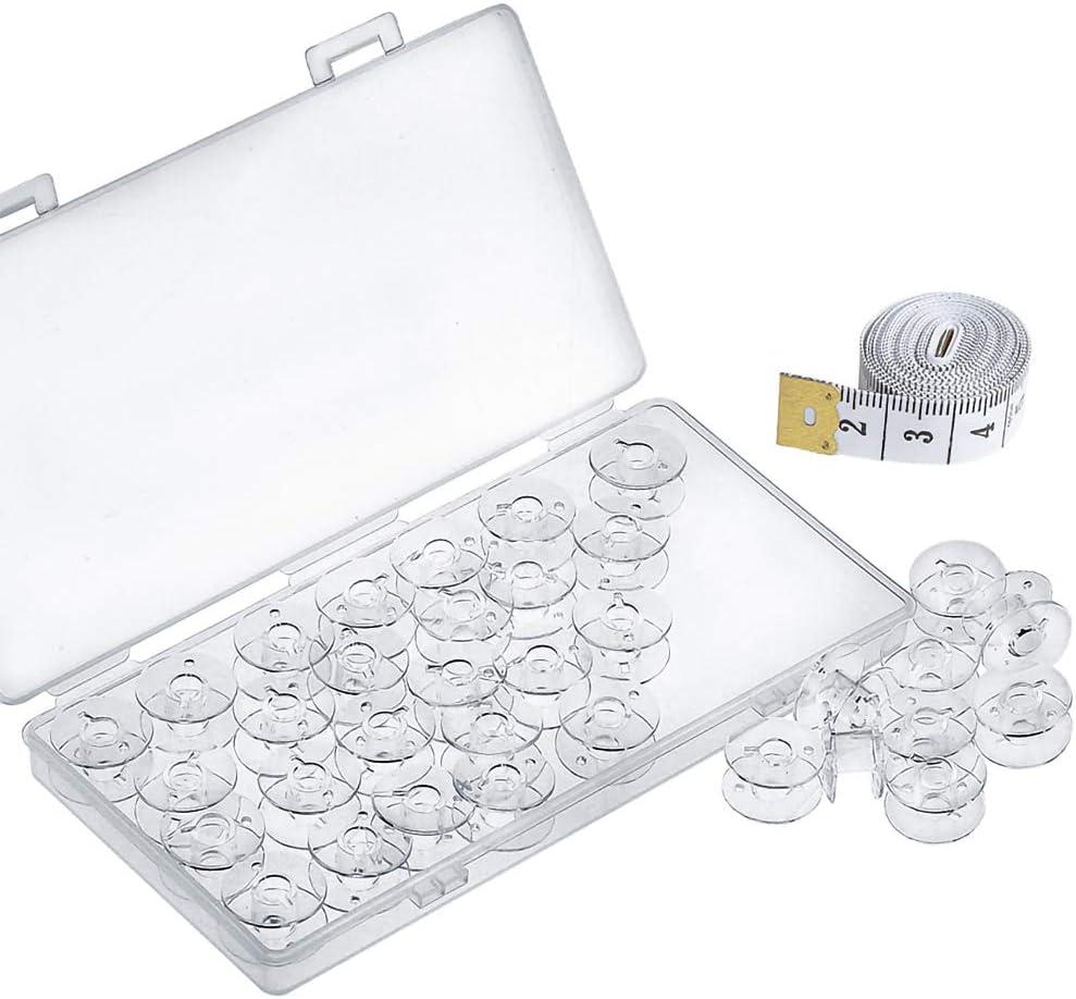 Kuichu 50 Pcs Premium Plastic Machine Transparent Max 73% OFF Sewing Bobbins Sale item