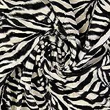Stoffe Schulz   Fellimitat Zebra, schwarz/weiß   Meterware