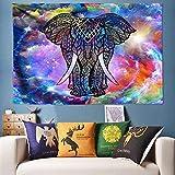 Yhjdcc Decorativo Gran Oreja Elefante Colgante de Pared 3D ilusi¨n Animal Tapiz Tapiz Yoga Set Gran Pared Colgante Imagen 150cm x 200 cm