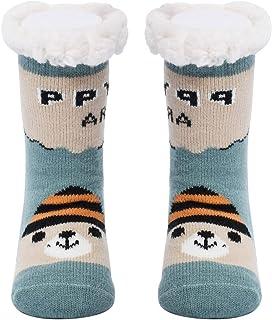 Gruesos cachemira lana calcetines de piso, casa abrigados calcetines de mujeres, antideslizantes tejidos calcetines de alfombra