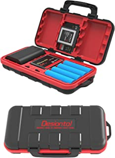 SD Card Case and Camera Battery Storage Box, Combined SD CF XQD TF Card Case Holder, Portable Waterproof and Shockproof Ba...