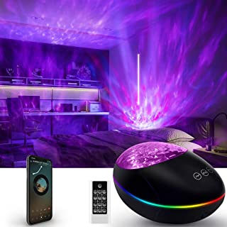 Galaxy Projector LED Star Night Light for Bedroom, Skylight for Adults Kids Girls Birthday Valentines Day Gifts, Ocean Wav...