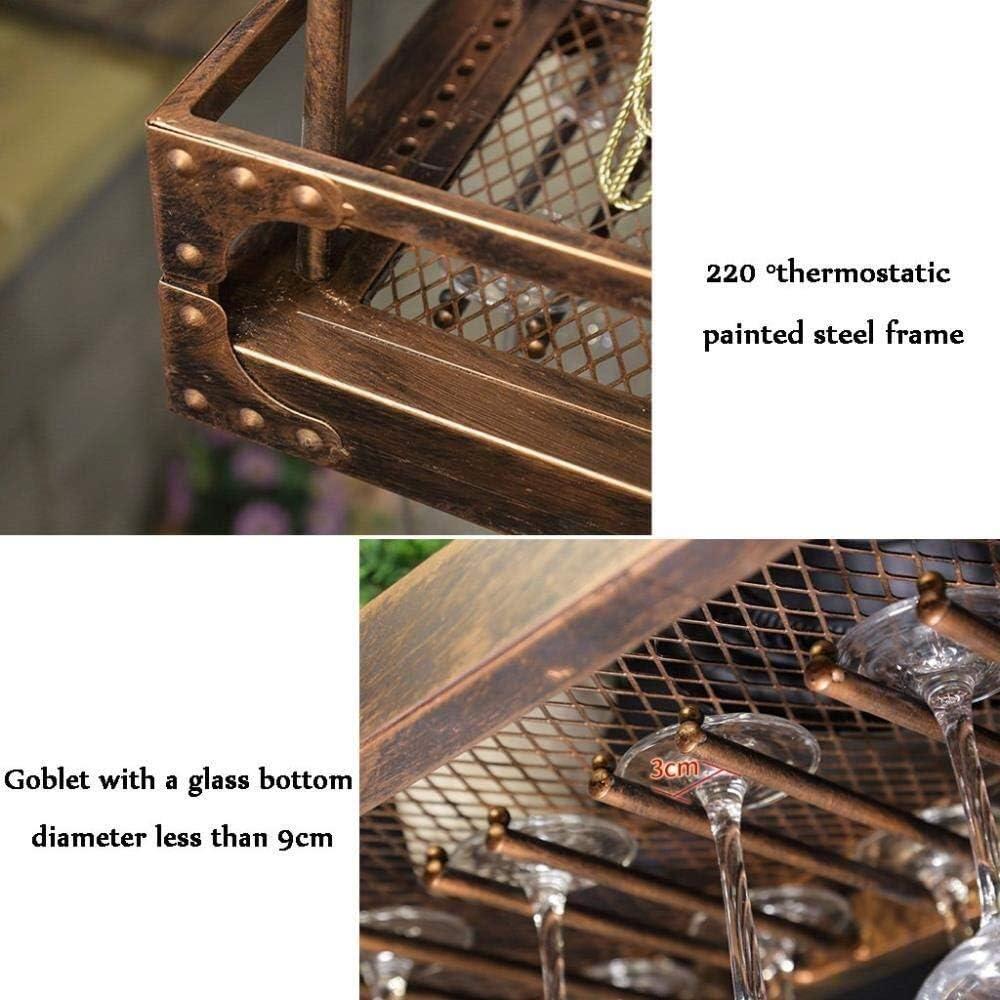 Porte-vin Industriel Mural Loft Grille en M/étal Casier /À Vin /Étag/ère Casier /À Vin D/écoration De Vin Rack Vin Pr/ésentoir GMING Color : Bronze