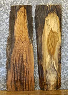 2- Partial Live Edge White/Red Oak Craft Pack/Wood Shelf Slabs T: 1 1/8'', W: 10'', L: 30'' - 8546-8547