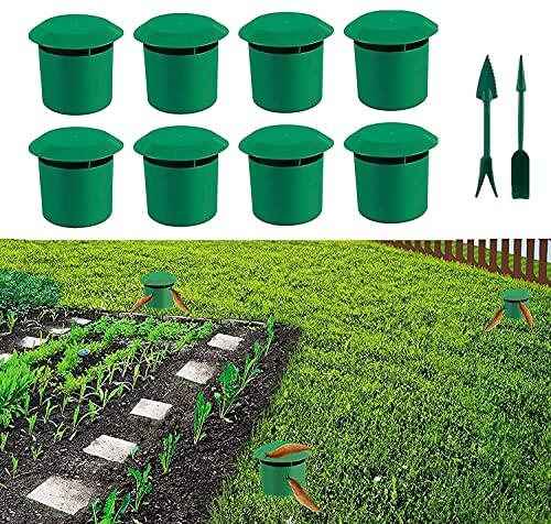 Schneckenfalle 8 Set   Premium Bio-Schneckenfallen ohne Chemieund Gift   Schneckenkorn   Schneckenschutz Hochbeet   Schneckenabwehr Schutzring   Schneckenkragen   Schneckenzaun für Ihre Salatpflanzen