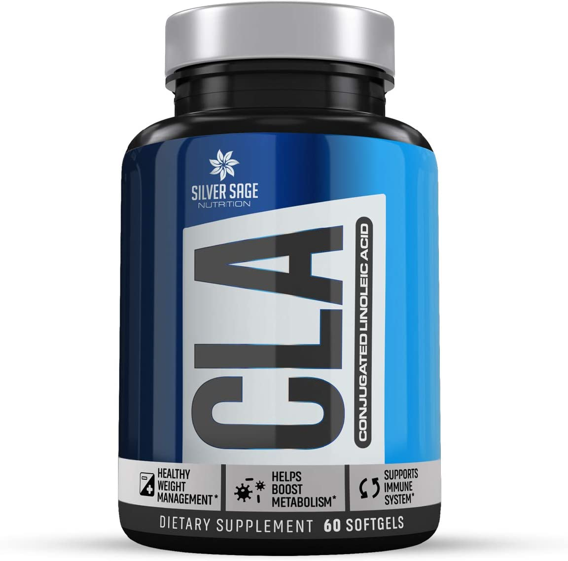 Silver Sage Nutrition CLA Supplements Weight Loss for Women   Weight Loss for Men   Conjugated Linoleic Acid   Capsules 60 Soft-Gel 2000 MG   Anti Inflammatory Retain Lean Muscle Mass Boost Metabolism : Health & Household