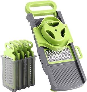 ZHTY Coupe multifonctionnelle 6 en 1 râpe de Cuisine Pliable, 6 Lames Spiralizer Slicer Slicer Cutter Fromage, Magasin de ...