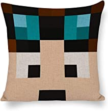 Decorative Cotton Linen Pillow Covers TheDiamondMinecart Minecraft Skin Throw Pillow Case Cushion Cover Home Office Decor,...