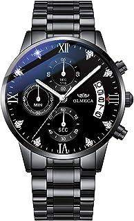 OLMECA Men's Watches Sports Fashion Business Casual Dress Wristwatches Chronograph Dials Calendar Date Window Waterproof Q...