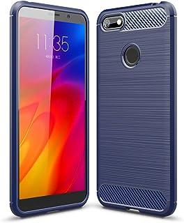 YEESOON Capa para Motorola Moto E6 Play, capa protetora ultrafina macia e leve de TPU capa traseira de design de fibra de ...