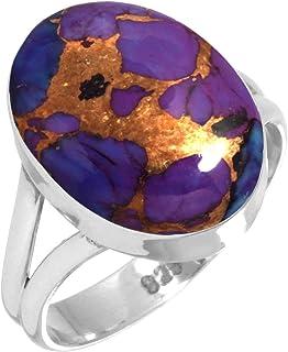 خاتم نسائي من الفضة الإسترلينية عيار 925 مرصع بالأحجار الكريمة من جويل بيوريوم (99029_R)