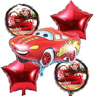 Party Propz Car Theme Foil Balloon Bouquet (Set of 5) for McQueen/Car Theme Party Supplies