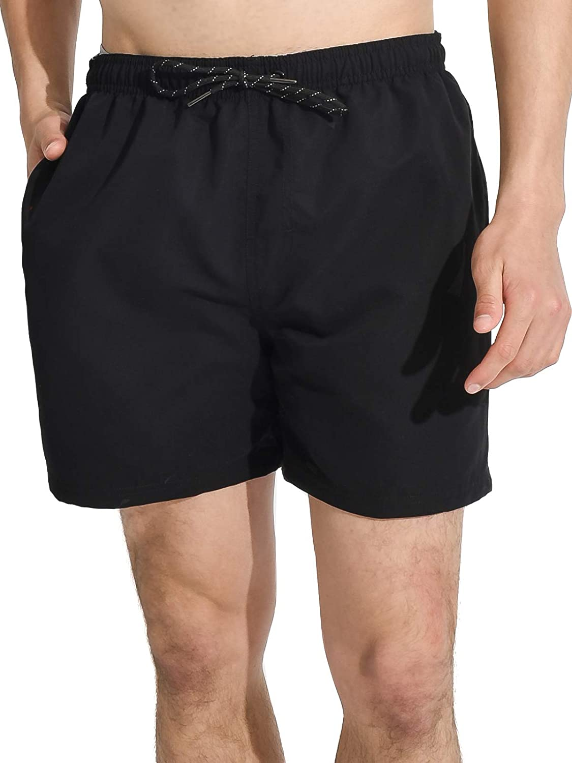 Actleis Mens Swim Trunks Board Shorts Short Quick Dry Swim Shorts with Mesh Lining us-19001