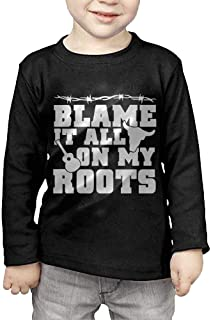 Blame It All On My Roots Printed Boys & Girls Long-Sleeved T-Shirt