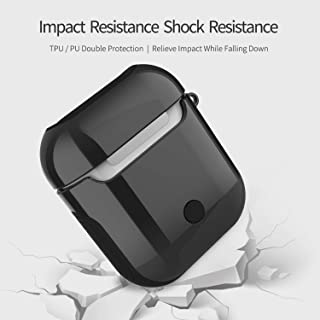WIWU AirPods Case Cover Full Protective Cover Skin for Apple Airpods Charging Case Black PC+TPU