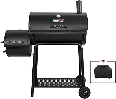 Royal Gourmet CC1830F-C 90-00-0 Charcoal Grill with Offset Smoker, Black