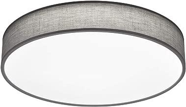 Deckenleuchte Stoffschirm Rund Ø40cm grau Wohnzimmerleuchten
