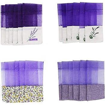 ZZ Sanity Bolsos Vacíos de la bolsita Saco de Algodón-Ramie de la Gasa Púrpura para la Lavanda, la Especia y Las Hierbas (24-PCS): Amazon.es: Hogar