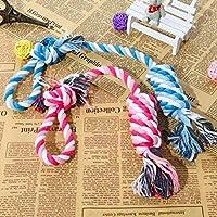 犬のおもちゃ子犬犬の歯科おもちゃロープコットン犬玉編みこみの結び目のおもちゃの骨のおもちゃ歯が生えるのクリーニングを噛ん (Color : Random Color, Size : As shown below)