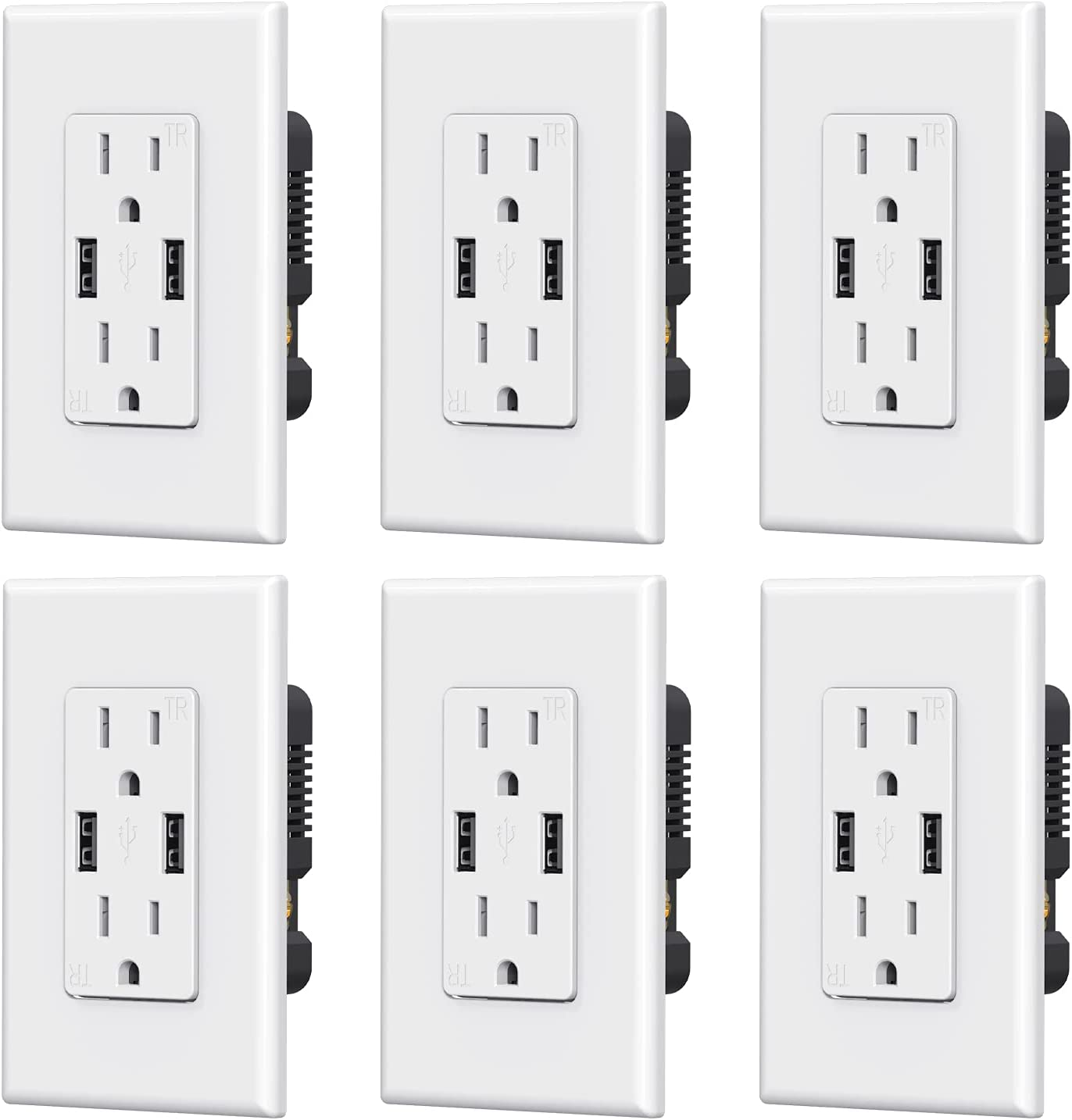 ELEGRP USB Outlet Receptacles Dual A surprise price is realized Popular popular High Speed with Ports Sm