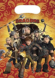 Unique Party 72352 - How To Train Your Dragon Party Bags, Pack of 6