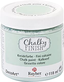 Rayher 38867432 vattenbaserad Chalky finish krita färg för Shabby Chic vintage och lantlig stil, 118 ml, jade