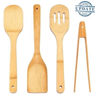 Bamboo Cooking Spoon Set Spatulas Kitchen Tools...