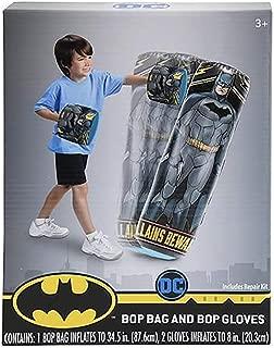 Fad Habit Licensed DC Comics Batman Inflatable Bop Bag and Bop Gloves Kids Punching Bag