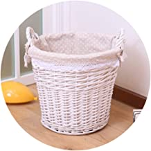 YAYADU Storage Basket Rattan Finishing Box Hand Weave High Capacity With Carry Handle Store Toy Clothes Fruits Vegetables ...