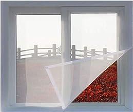 Glasvezel raamschermgaas Mesh gordijn, zelfklevend raamscherm met klittenband, gemonteerd op meerdere ramen(80x120cm(31x47...
