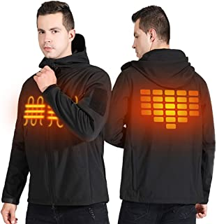 Heated Jackets for Men Waterproof WarmTactical Jacket Heated Hoodie Overalls