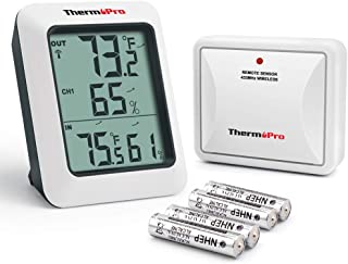 ThermoPro TP60S Digital Hygrometer Indoor Outdoor Thermometer Wireless Temperature and Humidity Gauge Monitor Room Thermom...