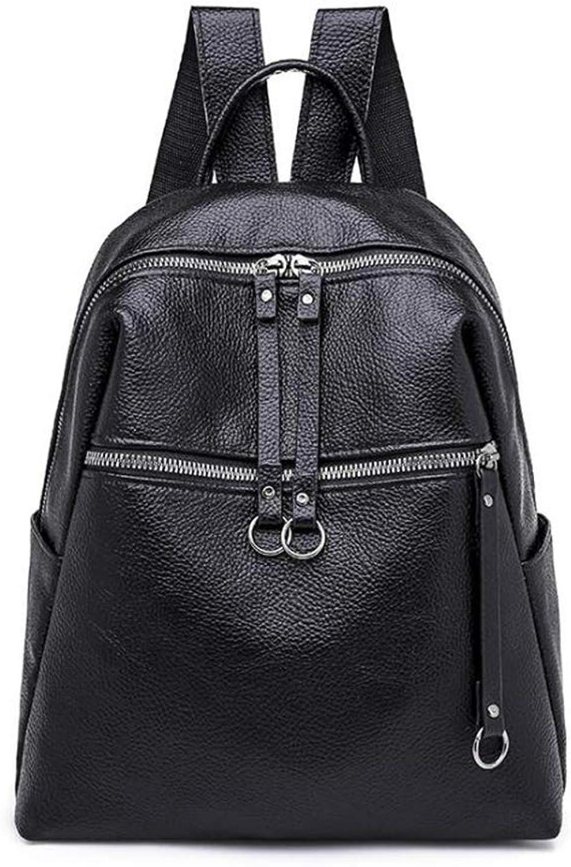 Women's Backpack, New Zipper Casual Shoulder Bag Lightweight Women's PU Shoulder Bag Waterproof Fashion Backpack Portable Handbag (color   A, Size   29  25  10CM)