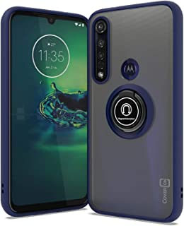 CoverON Dynamic Seres for Motorola Moto G8 Plus Case, Clear Tinted (Navy Blue)