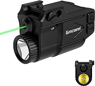 Gmconn Gun Light Laser Sight Weapon Pistol Flashlight 650 Lumen with Green Laser Sight Combo, Built in USB Rechargeable Ba...