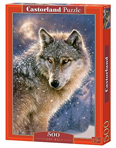 Castorland Lone wolf 500 pcs Puzzle - Rompecabezas (Puzzle rompecabezas, Fauna, Niños y adultos, Lobo, Niño/niña, 9 año(s)) , color/modelo surtido