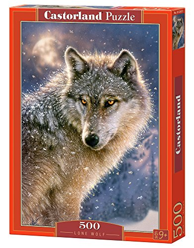Castorland B-52431 Puzzle Lone Wolf, 500 Teile, bunt